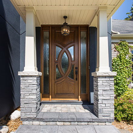 Healey exterior home, foyer and mudroom renovation by TimberCross Homes
